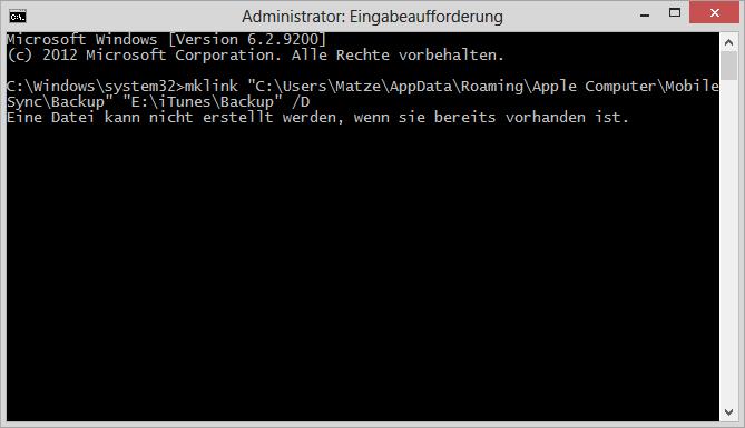 Eine Datei kann nicht erstellt werden, wenn sie bereits vorhanden ist.