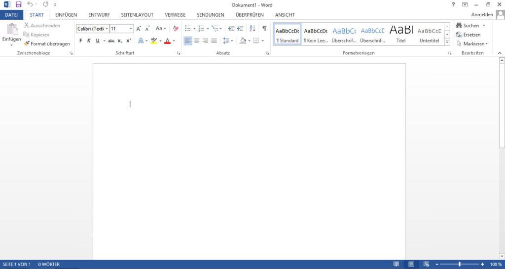 Office 2013 Design: Weiß