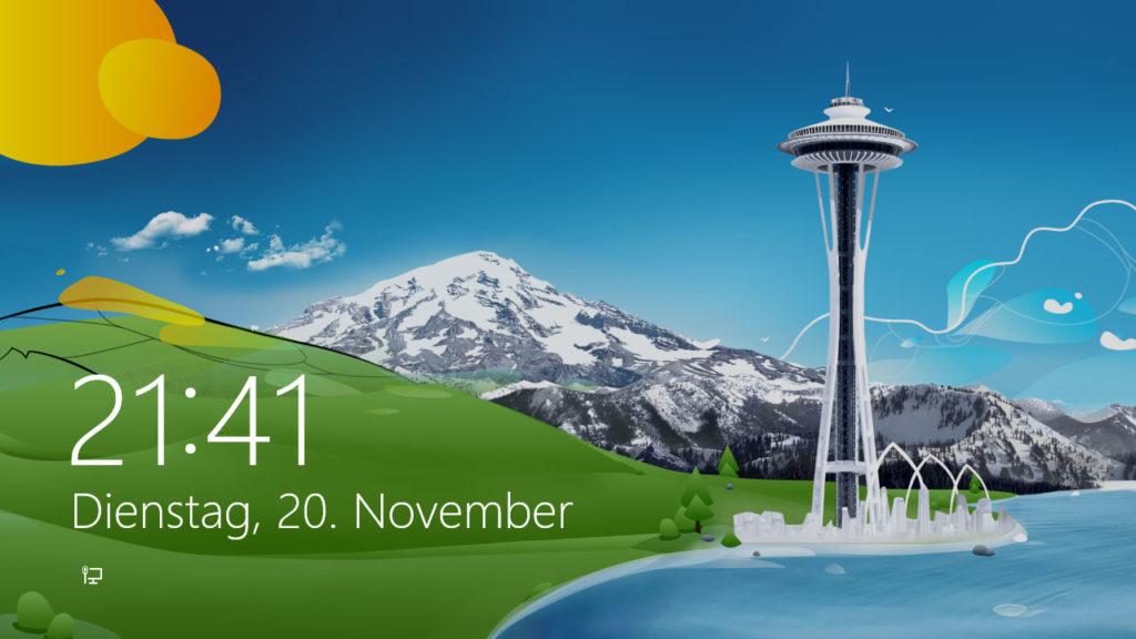 Windows Sperrbildschirm an