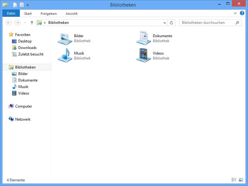 Windows-Explorer Rahmen dick