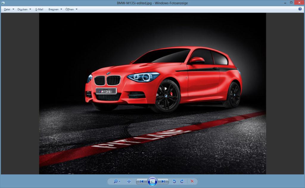 Windows-Fotoanzeige grauer Hintergrund