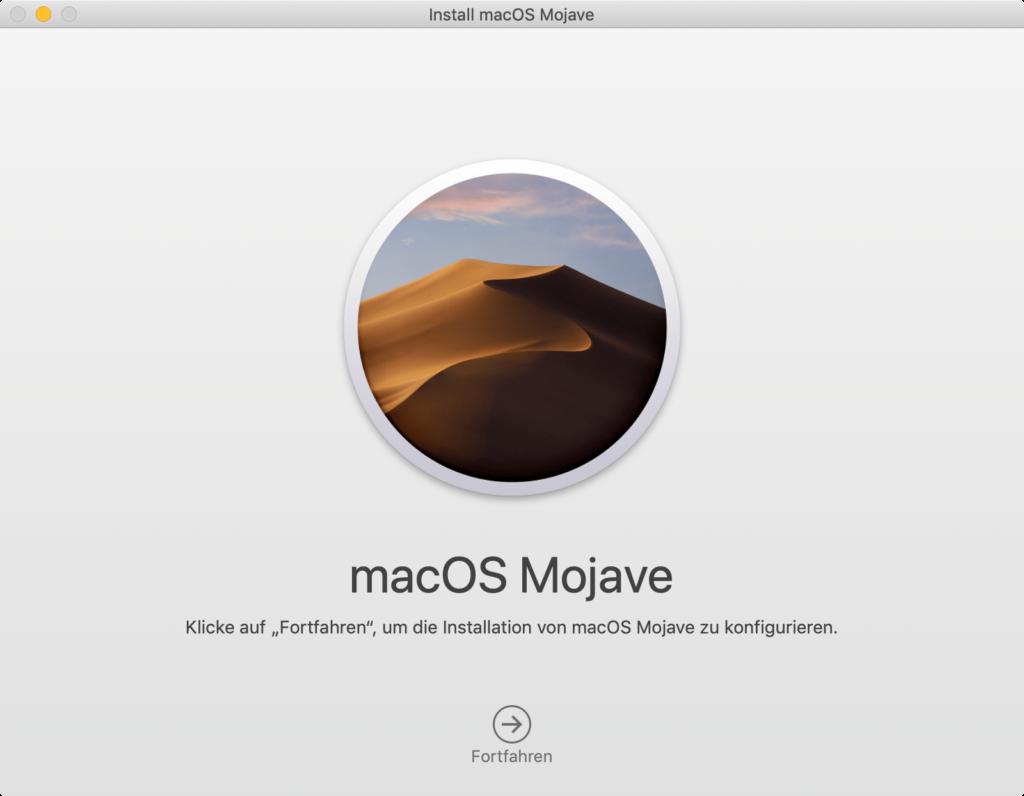 macOS 10.14.1: Installation