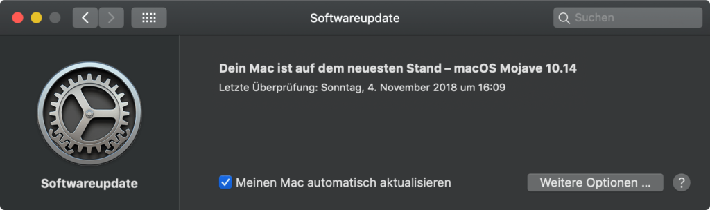 macOS 10.14.1: Softwareupdate