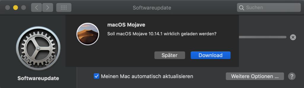 macOS 10.14.1: Wirklich laden?