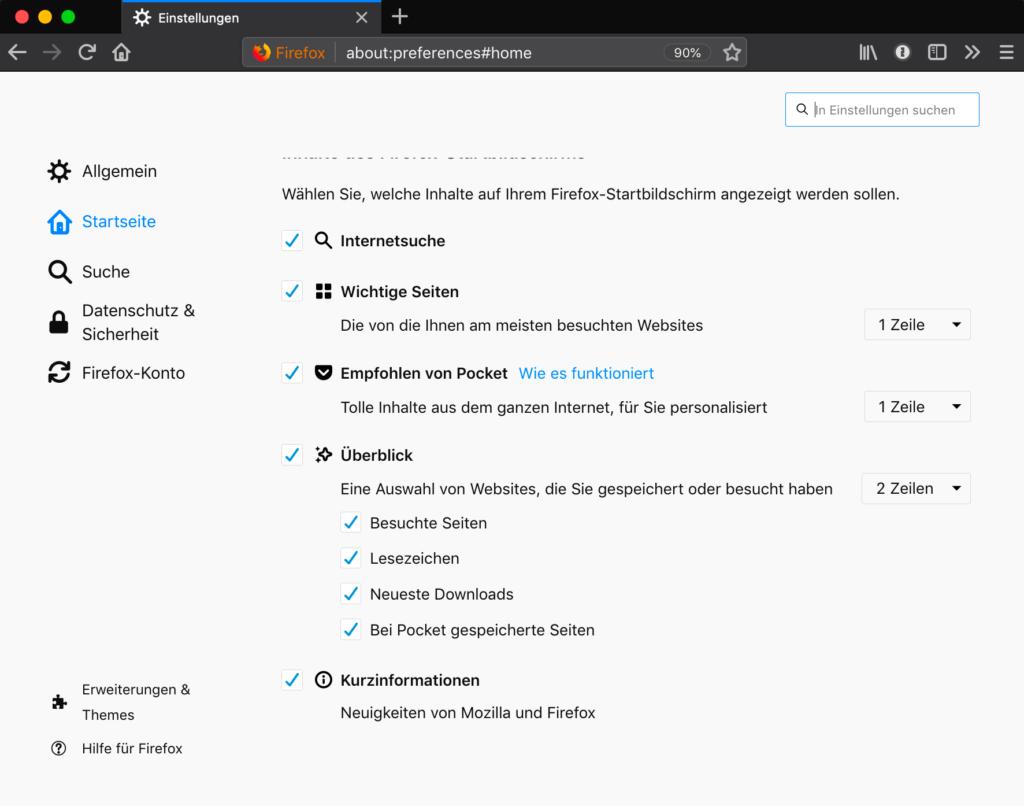 Kurzinformationen – Neuigkeiten von Mozilla und Firefox am Ende der Seite