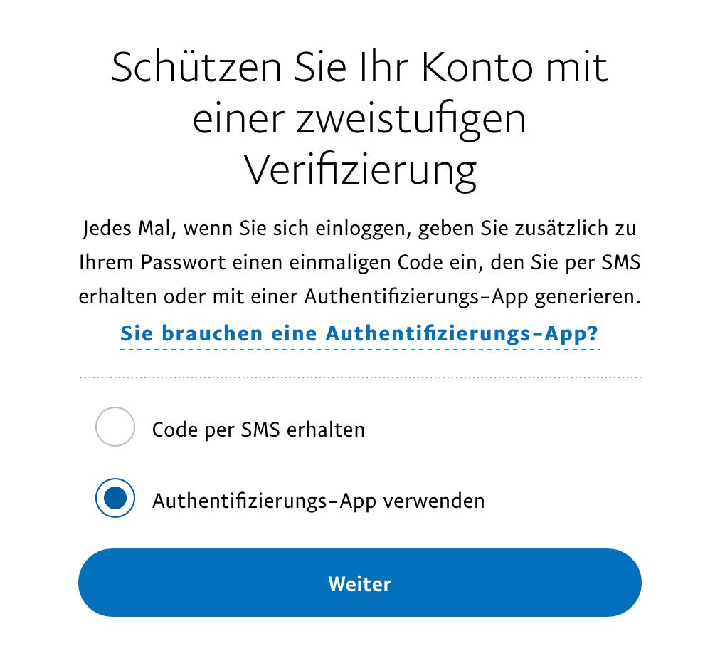 Authentifizierung-App verwenden