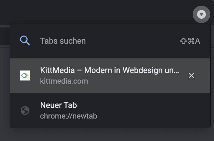 Google Chrome: Tabs suchen